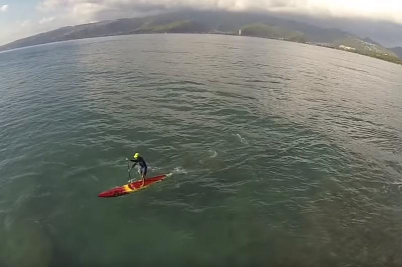 Vidéo : Oahu en SUP vu du ciel
