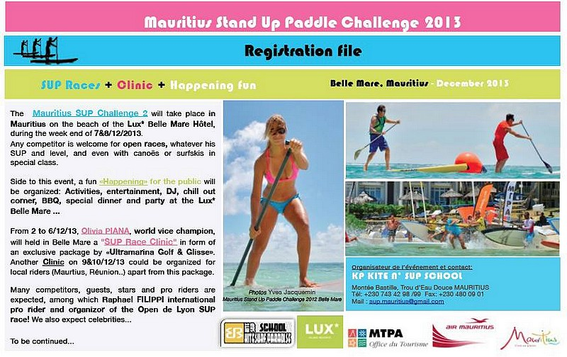 Mauritius Stand Up Paddle Challenge
