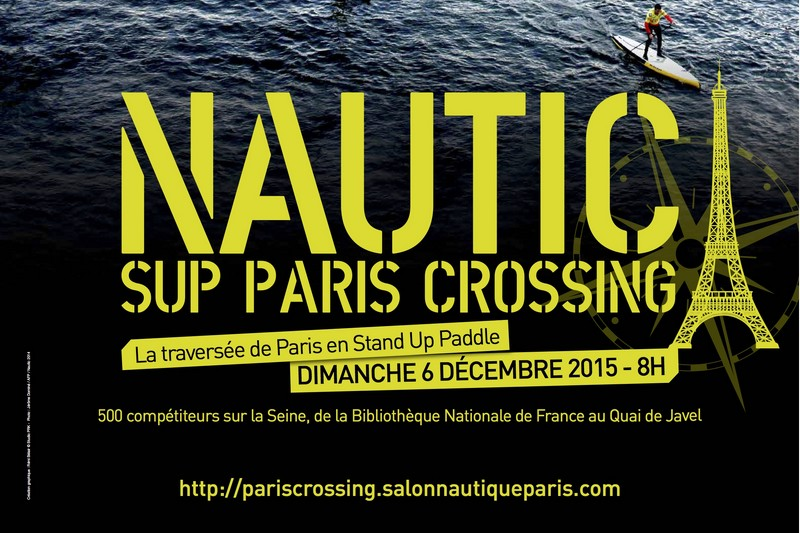 En direct du Nautic SUP Paris Crossing !