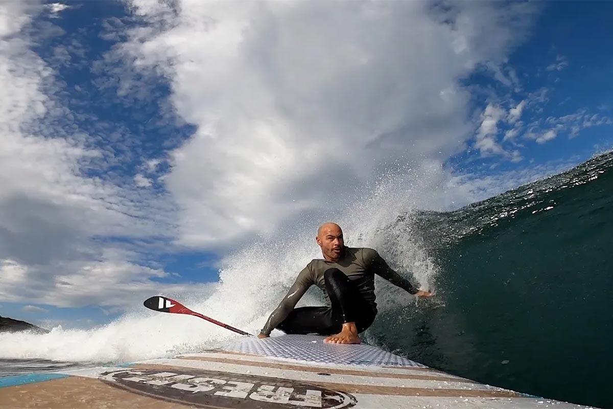 Une session en SUP longboard avec Alexandre Grégoire