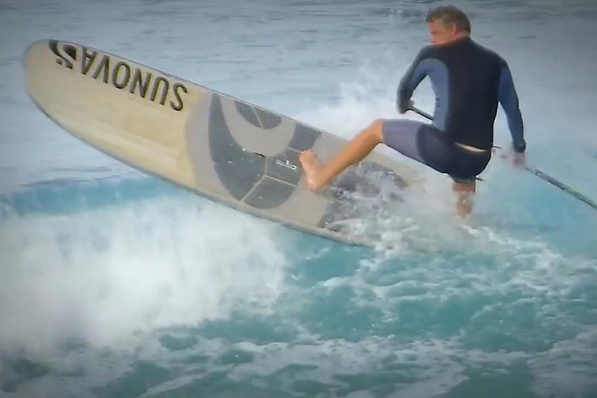 Une session sympa en SUP longboard