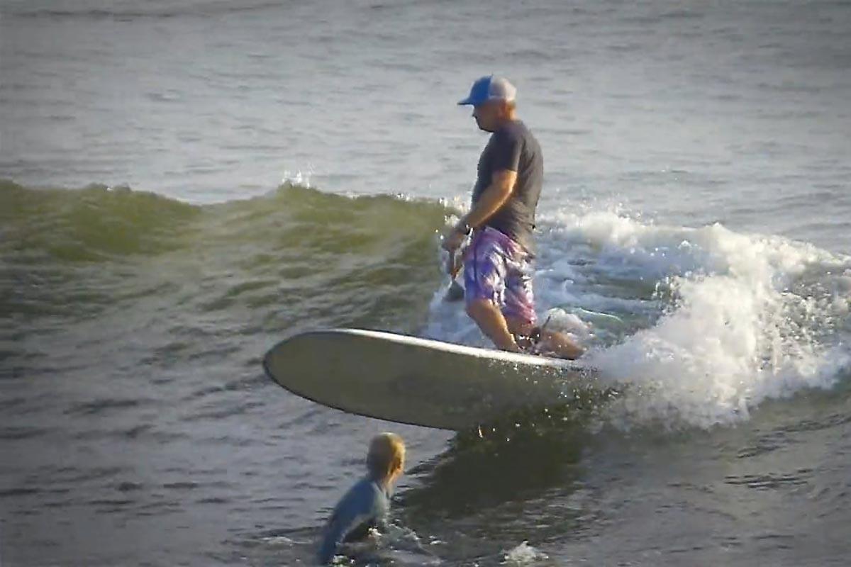 Du SUP longboard avec Andrew Cassidy