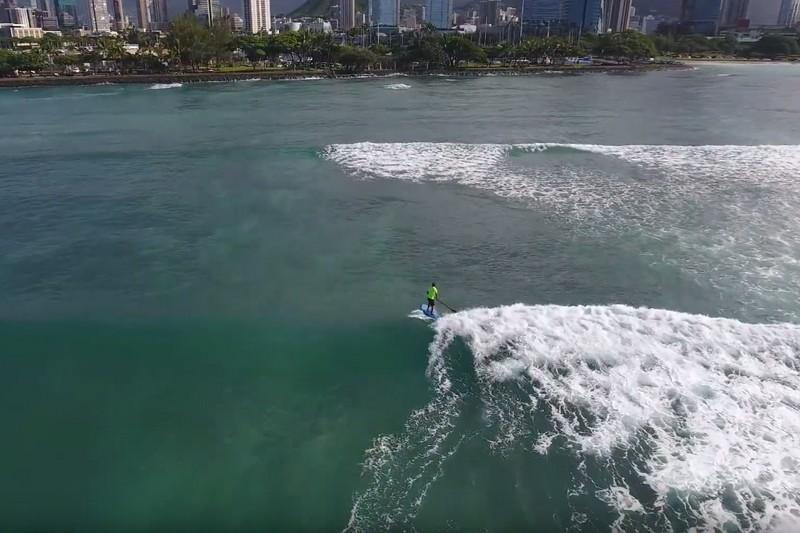 Du SUP surfing avant d'aller au boulot