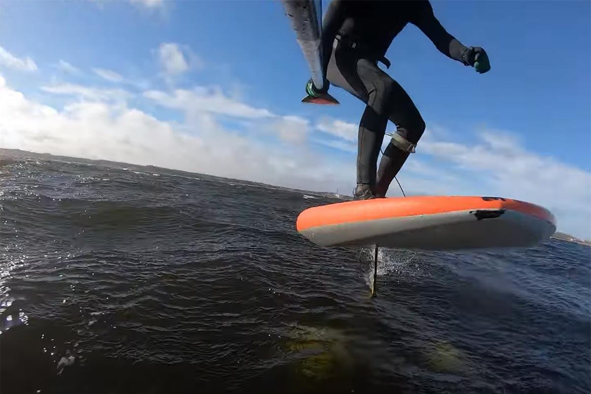 Un downwind en foil avec Casper Steinfath
