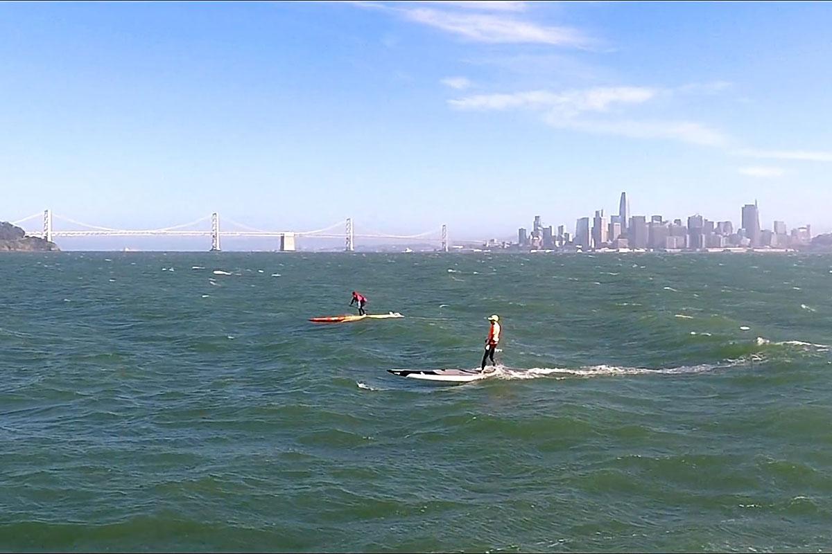Un downwind dans la baie de San Francisco