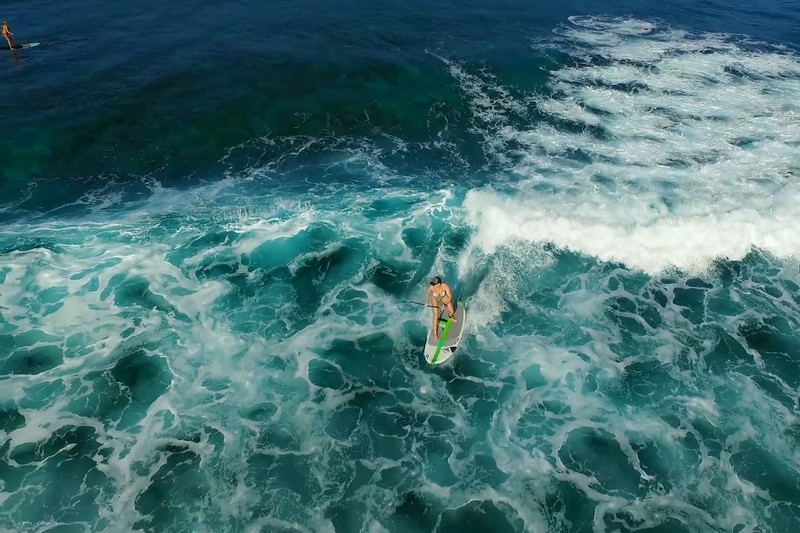 SUP Surfing Hawaii: Drone
