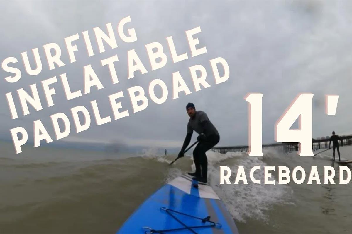 Une session dans les vagues en 14.0 gonflable