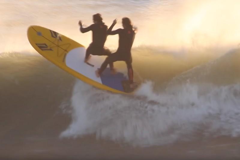 Du SUP surfing en tandem !