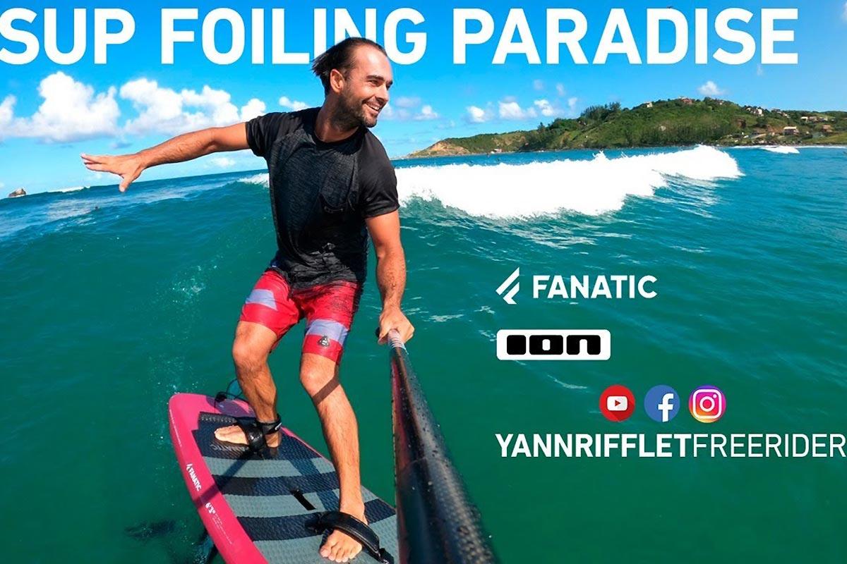 Yann Rifflet en SUP foil à Ibiraquera