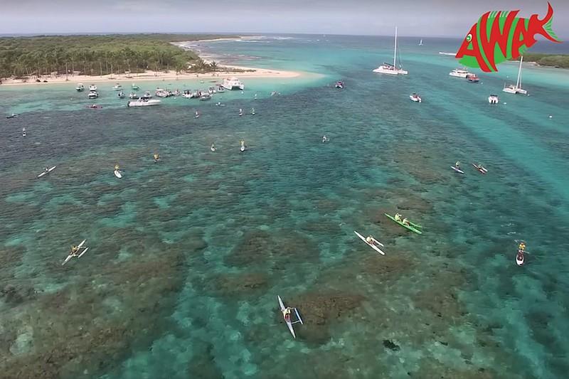 Ze Caribbean Race, le départ vu du ciel
